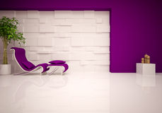 Modern lounge & relax room Stock Photos