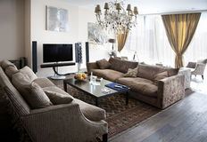 Modern lounge room Royalty Free Stock Image