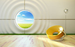 Modern lounge room interior Stock Image