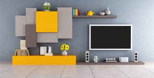 Modern lounge with tv set Stock Photography