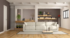 Modern lounge with white couch Royalty Free Stock Photos