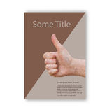 Modern low poly flyer, brochure or book cover Royalty Free Stock Photography