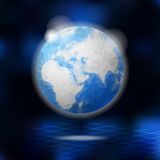 Modern low poly globe, planet Earth,  illustration Royalty Free Stock Photography