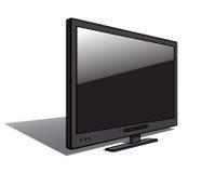 Modern LSDTV som isoleras på vit. Vektor Arkivfoto