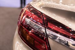 Modern luminescent lamp of a car Stock Images