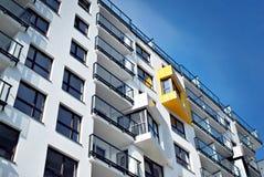 Modern, LuxeFlatgebouw Stock Foto