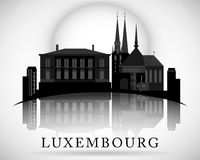 Modern Luxembourg Skyline Design Royalty Free Stock Image