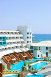 Modern luxueus hotel met vip villa's Royalty-vrije Stock Foto