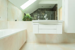 Modern luxurious bathroom Royalty Free Stock Images