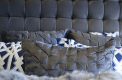 Modern luxurious bedding cushions Royalty Free Stock Image