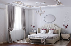 Modern and Luxurious Bedroom Design Stock Photos