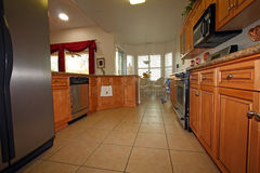 Modern luxurious kitchen Stock Photography