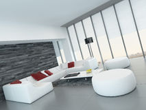 Modern luxurious living room interior Royalty Free Stock Photo