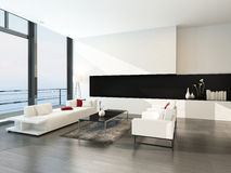 Modern luxurious living room interior Royalty Free Stock Photos