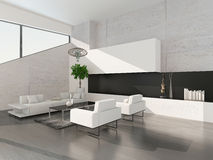 Modern luxurious living room interior Stock Photos