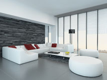 Modern luxurious living room interior Stock Photo