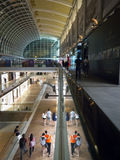 Modern, luxurious shopping mall. Of The Shoppes at the Marina Bay Sands, Singapore, at night Stock Image