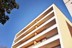 Modern, Luxury Apartment Building against blue sky Stock Photography