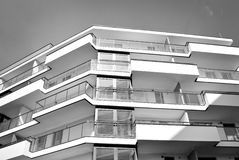 Modern, Luxury Apartment Building. Black and white Stock Images