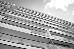 Modern, Luxury Apartment Building. Black and white Stock Photography