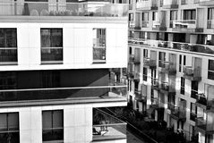 Modern, Luxury Apartment Building. Black and white Stock Photos