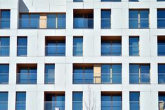 Facade of a modern apartment building. stock photography