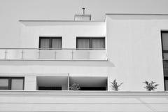 Facade of a modern apartment building. Black and white. Modern, Luxury Apartment Building. Modern facade stock photography