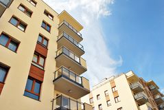 Modern, Luxury Apartment Building. Modern apartment house royalty free stock image