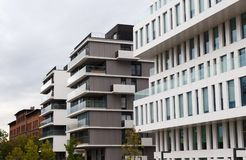 Modern luxury apartments buildings Royalty Free Stock Image