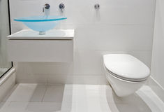 Modern luxury bathroom. With unusual hand wash basin Royalty Free Stock Image