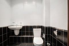 Modern luxury bathroom with bathtub and window. Interior design. Royalty Free Stock Photos