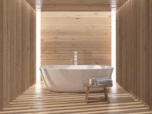 Modern luxury bathroom interior. 3d rendering Royalty Free Stock Photo