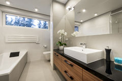 Modern luxury bathroom   interior design Stock Images