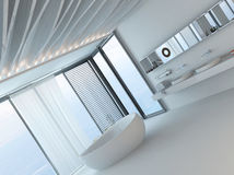 Modern luxury bathroom interior with white bathtub Stock Photos