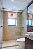 Modern luxury bathroom. With shower in european style stock photo