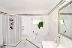 Modern luxury bathroom stock photos