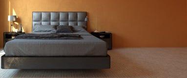 Modern luxury bedroom interior banner Royalty Free Stock Image