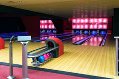 Modern luxury bowling Royalty Free Stock Photos