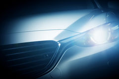 Modern luxury car close-up background Royalty Free Stock Images