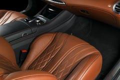 Modern Luxury car inside. Interior of prestige modern car. ComfoModern Luxury car inside. Interior of prestige modern car. Comfort. Modern Luxury car inside Royalty Free Stock Image