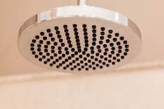 Modern luxury chrome shower diffuser Stock Image