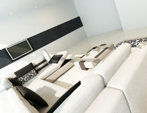 Modern luxury contemporary living room interior Royalty Free Stock Images