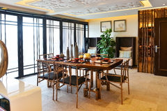 Modern luxury dining room Stock Images