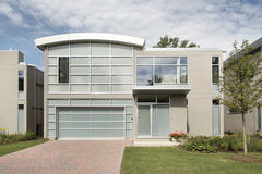 Modern luxury home. Front view of new modern luxury home Royalty Free Stock Photo