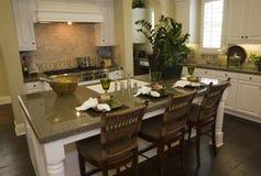 Modern luxury home kitchen. Stock Photos