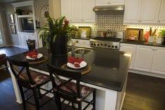 Modern luxury home kitchen. Royalty Free Stock Image