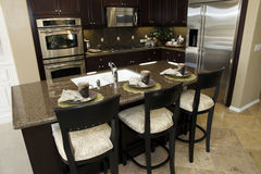 Modern luxury home kitchen. Stock Images