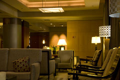 Modern luxury hotel lobby Royalty Free Stock Photography