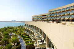The modern luxury hotel on Palm Jumeirah man-made island Royalty Free Stock Images