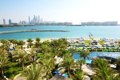 The modern luxury hotel on Palm Jumeirah man-made island Royalty Free Stock Image